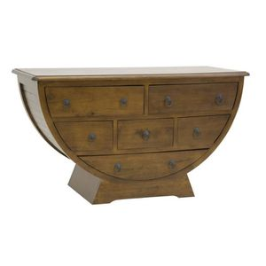 COMMODE DE CHAMBRE Ethnik chic - Commode 1/2 cercle 6 tiroirs Ladin C
