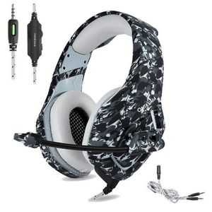 CASQUE AVEC MICROPHONE BH Casque Gaming pour Ps4 Xbox One, Camouflage Cas