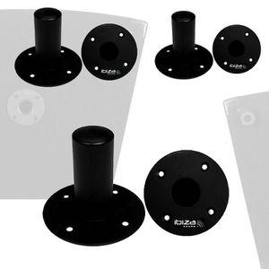 SUPPORT ENCEINTES SONO 6 adaptateurs ronds: fixation d'enceintes sur pied