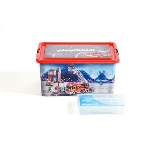 BOITE DE RANGEMENT PLAYMOBIL Boîte de Rangement Pompiers - 23 L + Pet