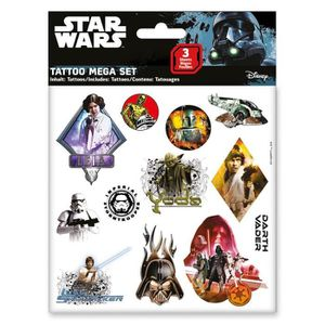 JEU DE TATOUAGE STAR WARS Mega Set Tattoos