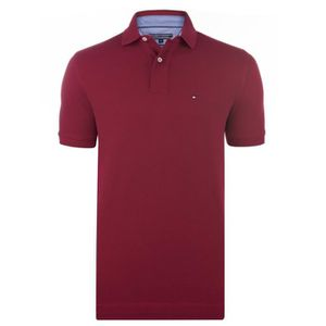 POLO Tommy Hilfiger Polo Hommes Manche Courte Rouge