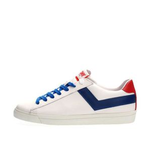 BASKET PONY SNEAKERS Homme WHITE RED, 44