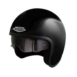 CASQUE MOTO SCOOTER CASQUE JET CUSTOM TORX WYATT HARRY NOIR MAT  (S)