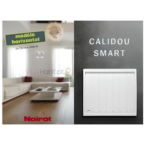 RADIATEUR ÉLECTRIQUE Radiateur Noirot CALIDOU Smart Horizontal - 100…
