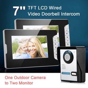 INTERPHONE - VISIOPHONE Vidéo Sonnette 7po TFT Visophone Interphone Vidéo