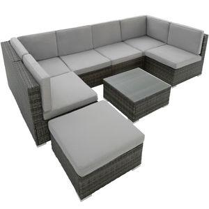 Ensemble table et chaise de jardin TECTAKE Salon de Jardin VENISE 6 Places Design 6 F