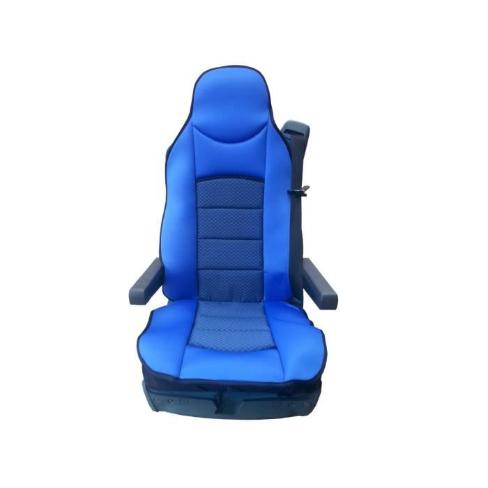 1x LUXE HOUSSE COUVRE SIEGE COUVRE-SIEGE BLUE POUR MERCEDES ACTROS AXOR ATEGO