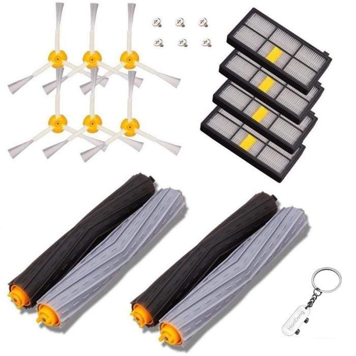 Kit de recharges pour iRobot Roomba série 800 et série 900 - Kit de 14 pièces accessoires pour aspirateur robot..