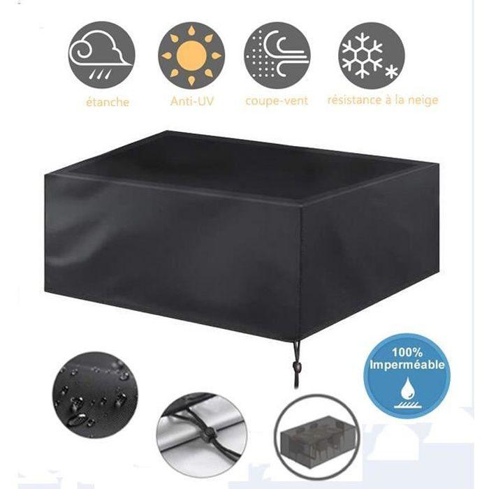 126*126*74cm-Housse pour Mobilier de Jardin Étanche Bâche Couverture Housse de Protection Meuble Table Salons de Jardin Pation