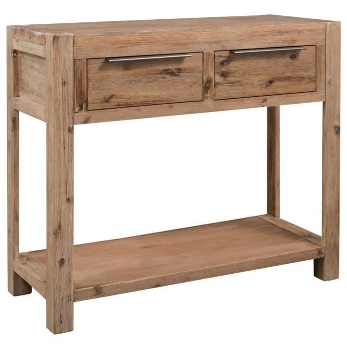 Table console 82x33x73 cm Bois d'acacia massif-RUI