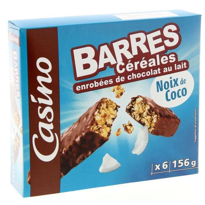 Barre Céréales chocolat coco 156 g