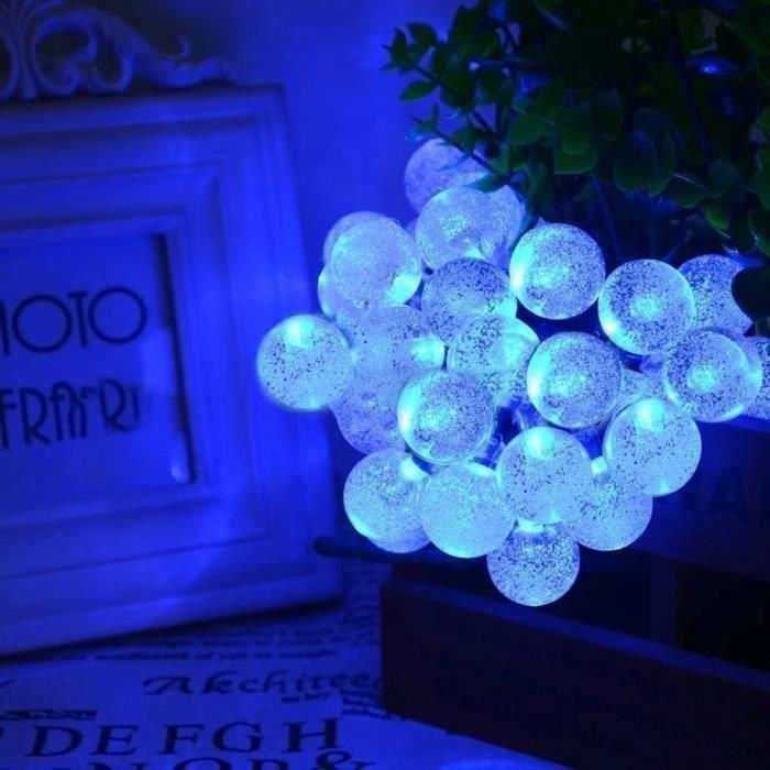 2M 20 Noël LED Guirlandes Lumineuse Boule Fée Pr Decor Halloween BLEU Aw09864