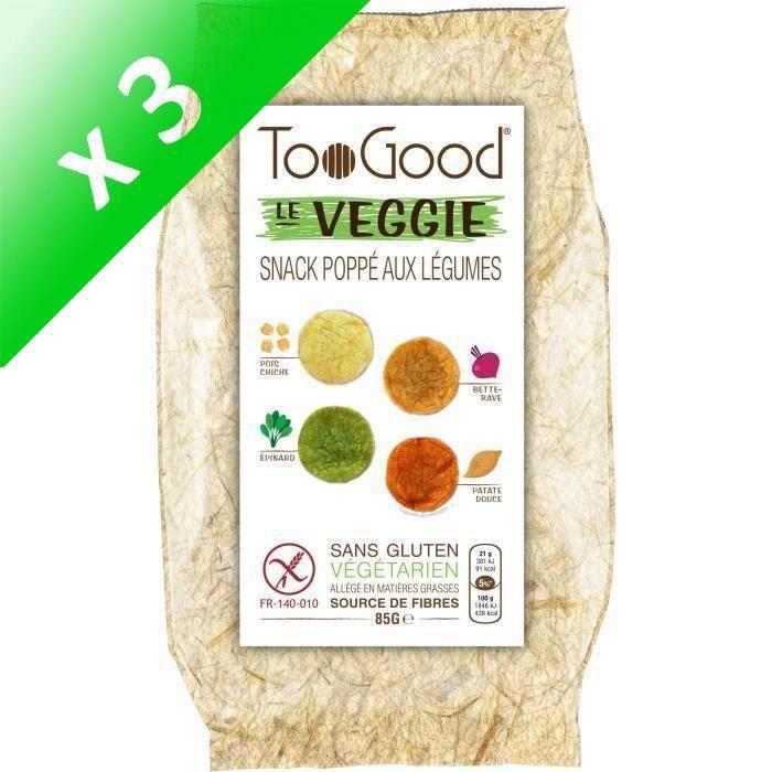 [LOT DE 3] Toogood biscuits apéritifs Le Veggie 85g