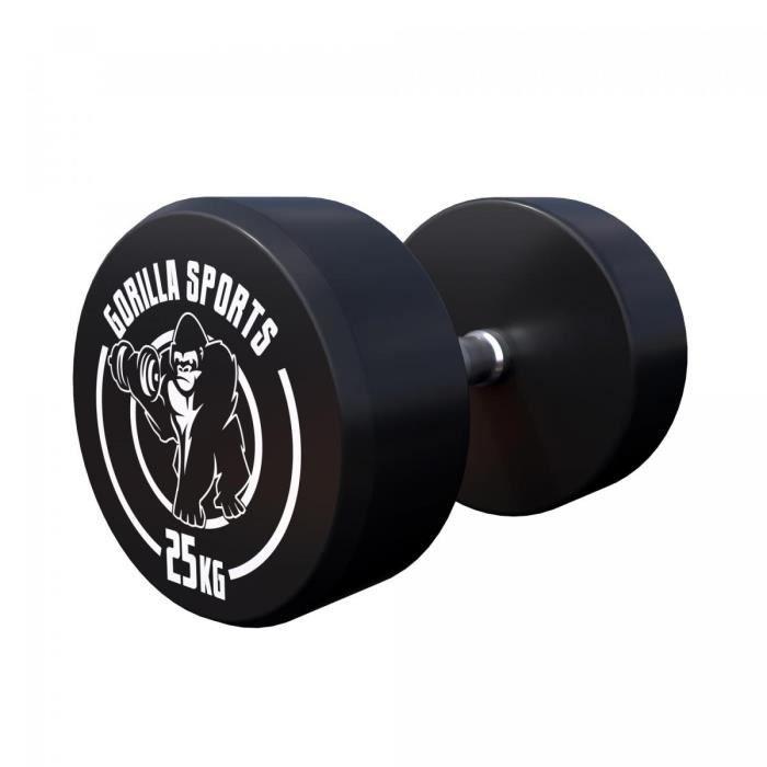 Gorilla Sports 25 kg Dumbbell haltère poids
