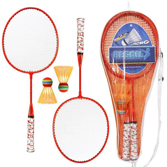 1 paire Ensemble de raquettes de badminton pour enfants avec balles badminton à 2 joueurs Jeu de sport en plein air intérieur-70
