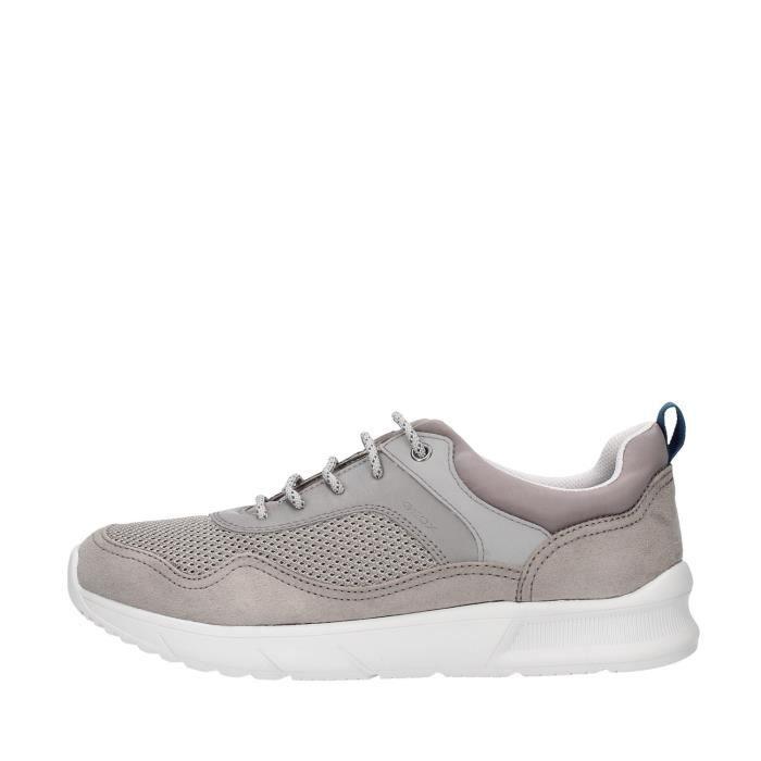 Geox U029UB014U5 chaussures de tennis faible homme GRIS
