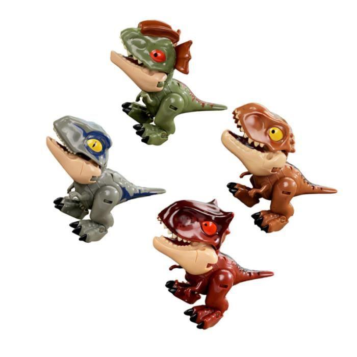 4 pcs légers transformateurs de dinosaure transformant des enfants pour figurine miniature - personnage miniature monde miniature