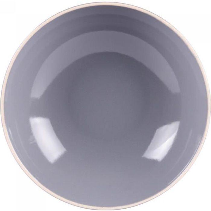 Assiette creuse alpha 22 cm gris (lot de 6) - Table Passion Gris