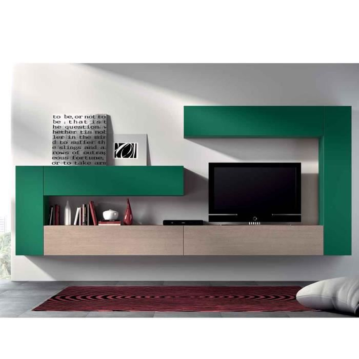 Elegant living meuble tv meuble mural tv desgin gorgia for Atylia meuble tv