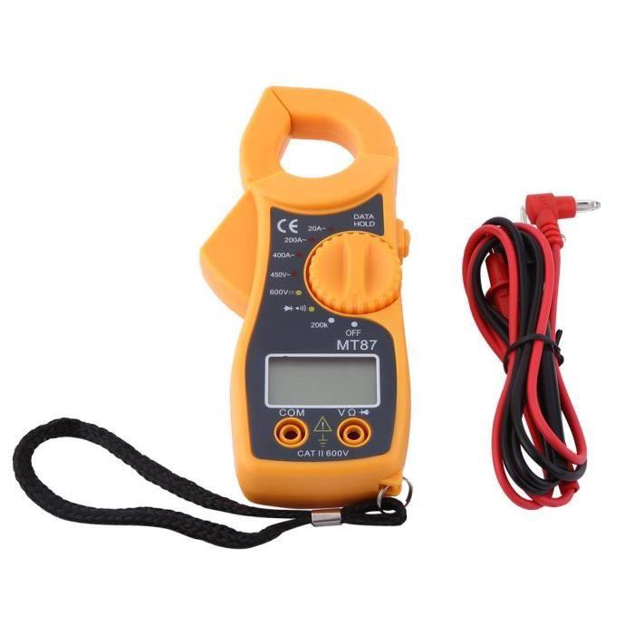 Pince Ampèremetrique Multimètre Écran LCD Voltmètre Ampèremètre Testeur