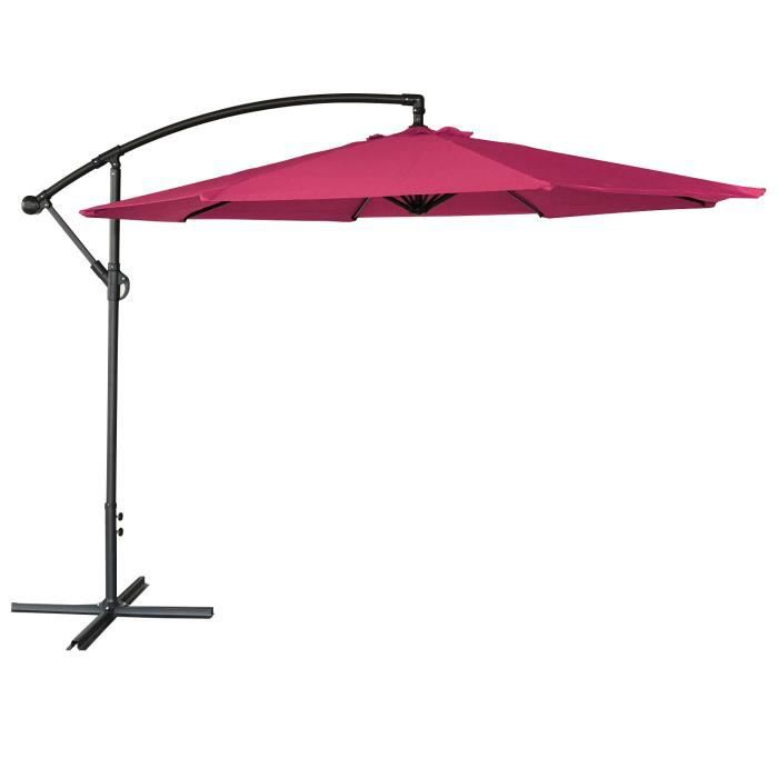 parasol d port rond 3m fuchsia achat vente parasol parasol d port 3m cdiscount. Black Bedroom Furniture Sets. Home Design Ideas