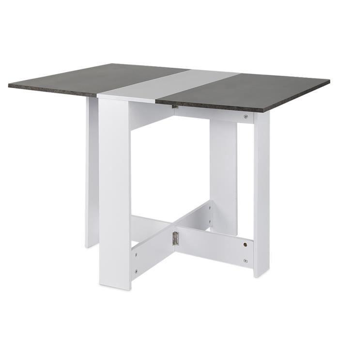 Wiss Table A Manger Cuisine Pliante Surface 103x76cm Hauteur 74 Cm