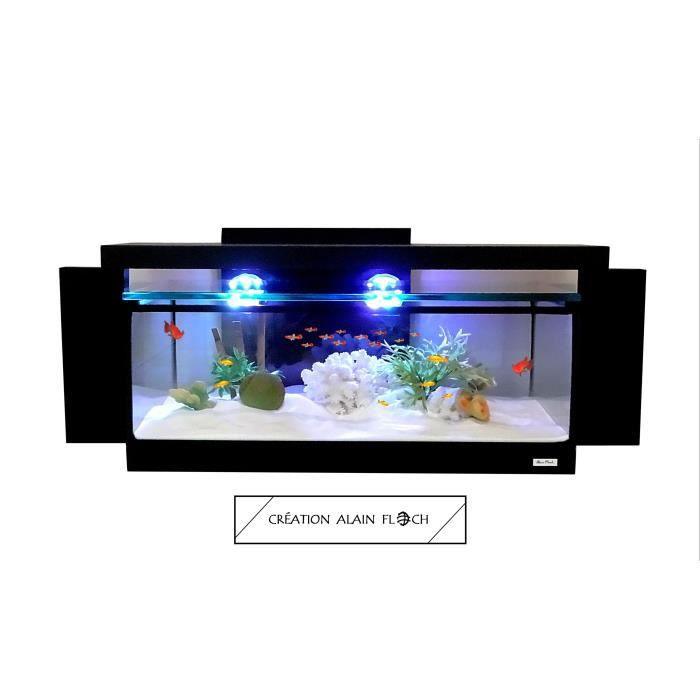 aquarium table basse pas cher table basse en mtal et simili noir retro with aquarium table. Black Bedroom Furniture Sets. Home Design Ideas
