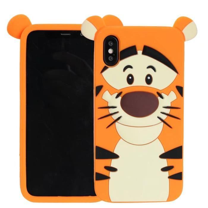 Coque iPhone 6 Plus.tigre Tigrou jaune Adorable bande dessinée ...