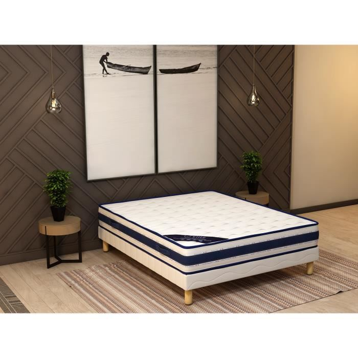 memory ensemble sommier matelas 160 200 memoire achat vente ensemble literie les. Black Bedroom Furniture Sets. Home Design Ideas