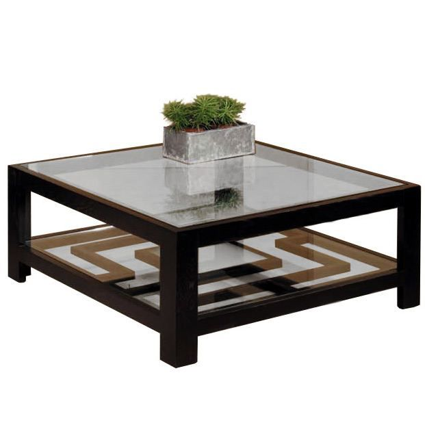 Table basse carr e ohio avec plateau achat vente table - Table basse carree grise ...