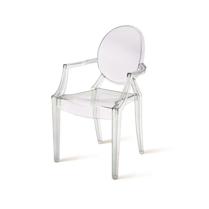 Chaise design ice blanche transparente achat vente chaise cdiscount - Chaise transparente discount ...
