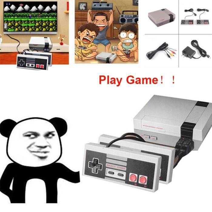 CONSOLE RÉTRO Console de jeux vidéo Mini TV + Double Gamepads Su