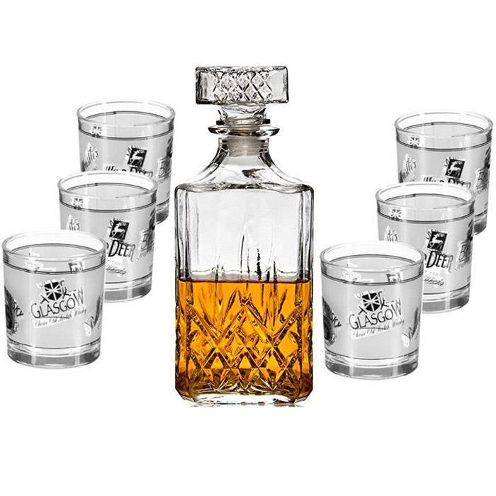 1 carafe en promo ! service à whisky Timesquare en cristal de boheme  verre x 6