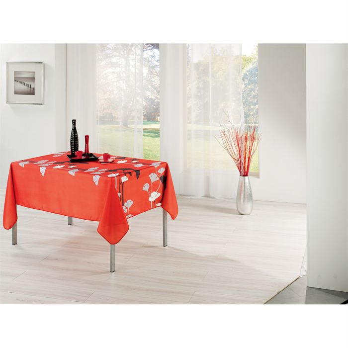 nappe rectangulaire 150x240 cm genko rouge achat vente. Black Bedroom Furniture Sets. Home Design Ideas