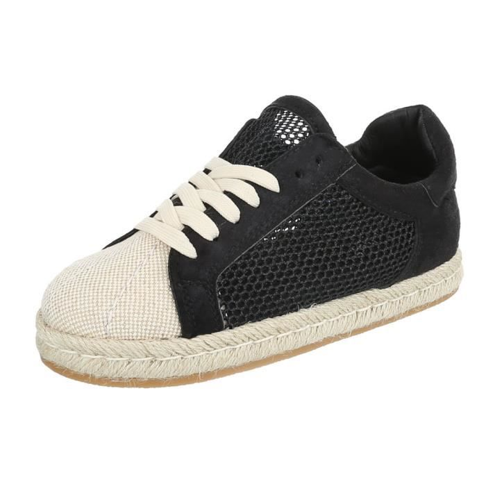 Chaussures femme chaussures sportlaceter Sneakers noir 41