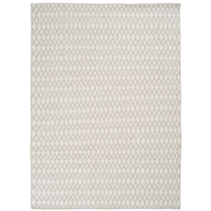 tapis velours fin elliot blanc 200x300 par unamourdetapis tapis moderne achat vente tapis. Black Bedroom Furniture Sets. Home Design Ideas