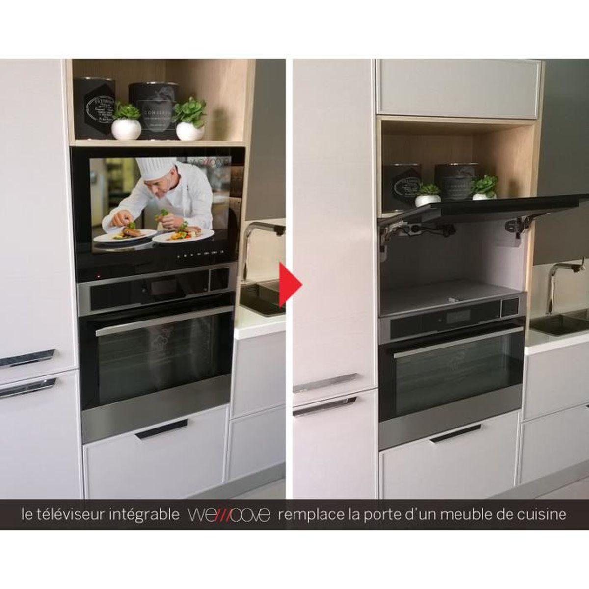 Tv Encastrable Cuisine 54 Cm Cadre Noir Design Compact Niche