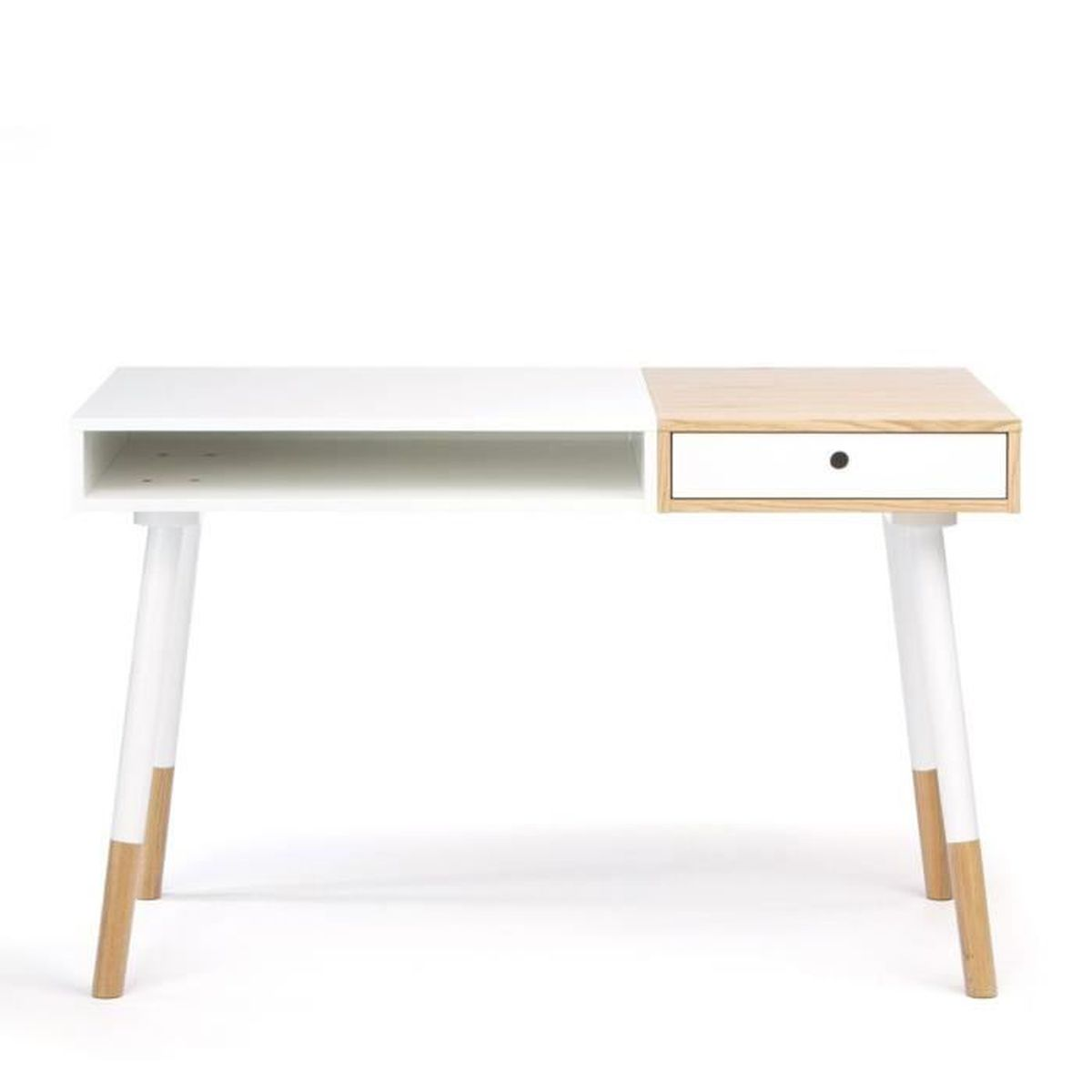 bureau design bois et blanc sonnenblick couleur blanc achat vente bureau bureau design bois. Black Bedroom Furniture Sets. Home Design Ideas