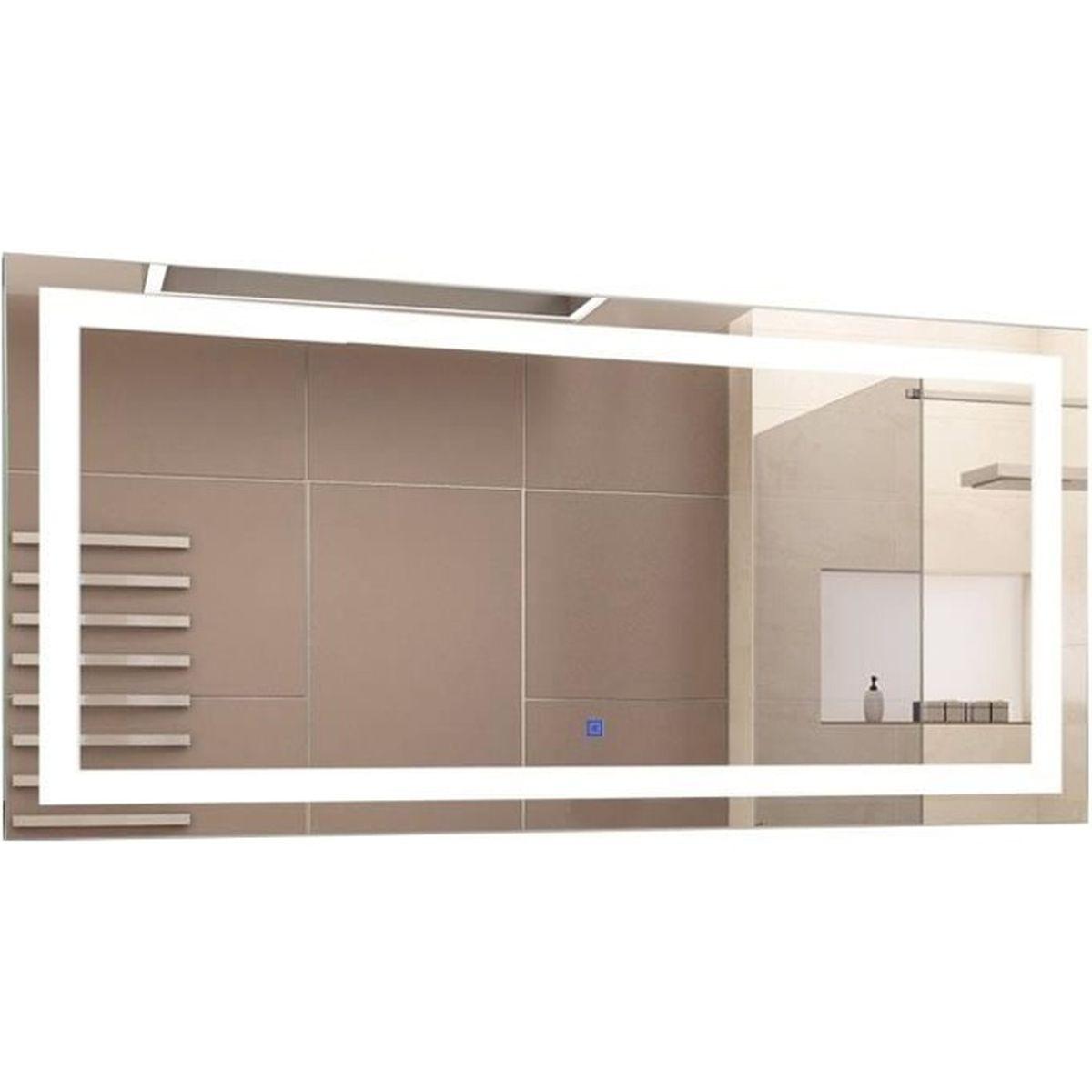 Miroir Eclairant Salle De Bain miroir lumineux led salle de bain miroir rectangulaire 53 w