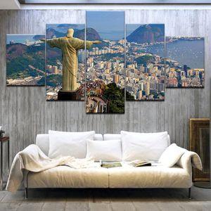 TABLEAU - TOILE (Non encadré) 5 pièces Toile Peinture Rio De Janei