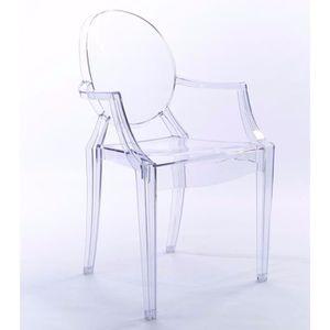 CHAISE Lot de 4 chaises transparentes salle a mangeer sej