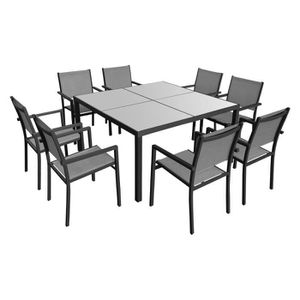Table salon de jardin carre