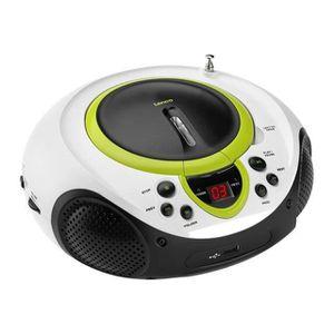 RADIO CD CASSETTE LENCO SCD-38 Vert Radio CD USB MP3