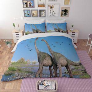 HOUSSE DE COUETTE SEULE Parure de lit dinosaures Jurassic Park 3D effet 16