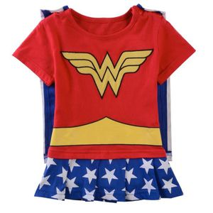 DÉGUISEMENT - PANOPLIE  Vêtements de Robe bébé Wonder Woman Fille Grenoui