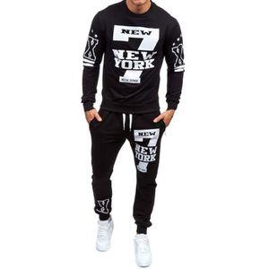 SWEATSHIRT Automne Imprimé Hiver hommes Sweat-shirt Top Panta