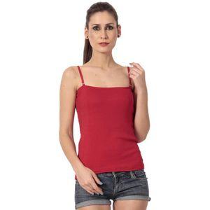 Débardeur Coton Rouge Débardeur à bretelles fines pour femme
