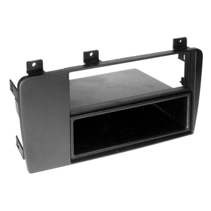 Adaptateur de façade 2-DIN avec vide poche Volvo V70 / 60 / XC 70 noir