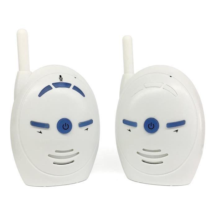 BABY PHONE - ECOUTE BEBE,Moniteur bébé Audio sans fil numérique 2.4ghz, talkie talkie, alarme de bébé, pour enfants- Type EU Plug